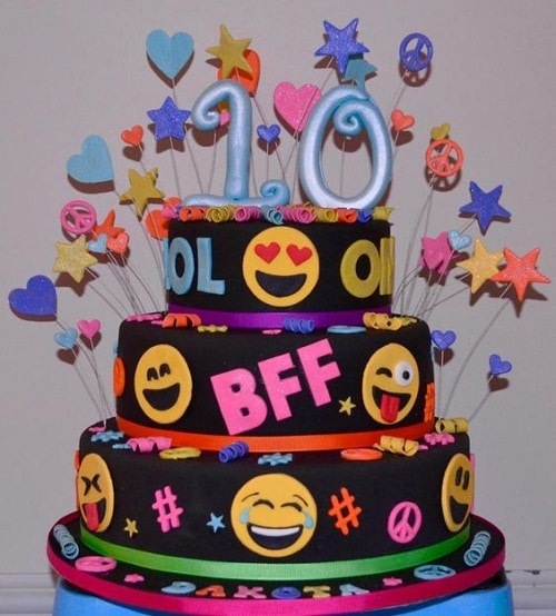 Emojis Birthday Cakes for Girls