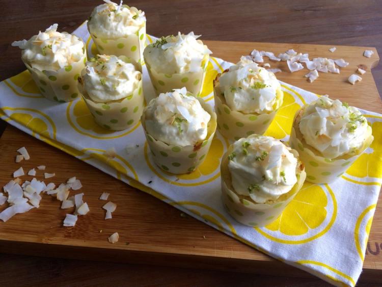 Kokos limoen cupcakes