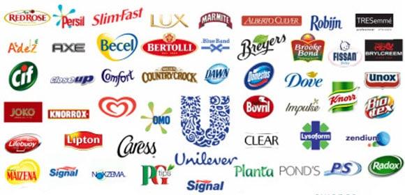 Grootste foodmerken - Unilever merken