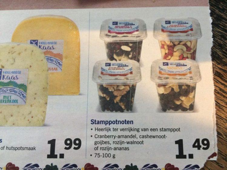 Nutteloze pakjes en zakjes: Lids hutspot kaas