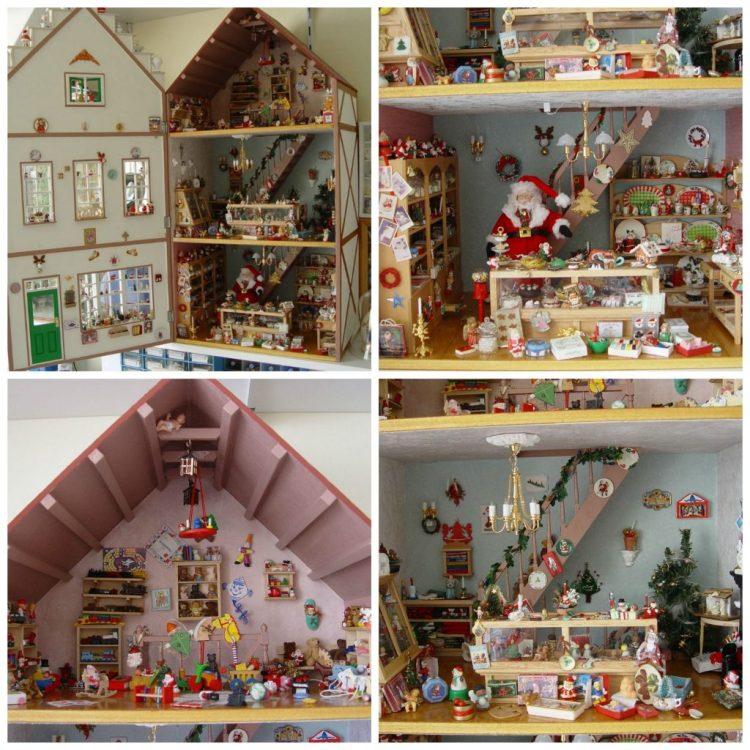 Poppenhuizen van mijn ouders: het huis van de kerstman