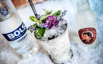 Winter cocktails: winter wonderland