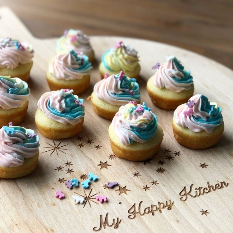 unicorn mini cupcakes