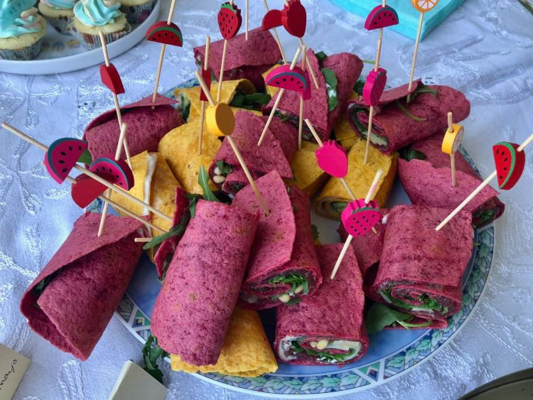 high tea organiseren - wraps