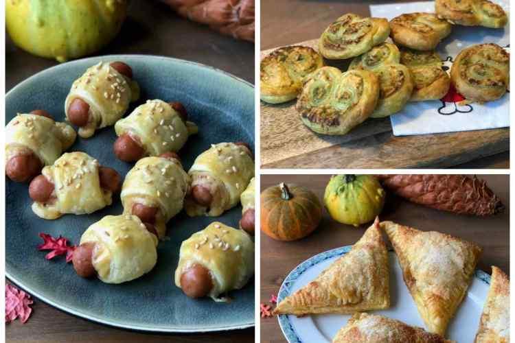 Creatief met bladerdeeg: kaas-worstenbroodjes, appelflappen en kaas-pesto vlinders