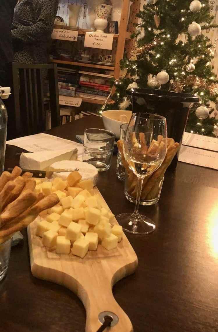 wijnproeverij van wijnklas