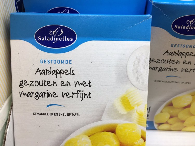 Nutteloze pakjes en zakjes - aardappelen met margarine