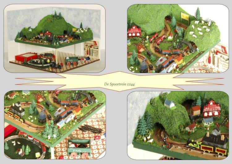 Nog meer mooie poppenhuizen: modeltreinbaan