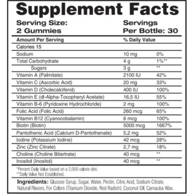sweet-bunny-hare-haarvitamine ingredienten