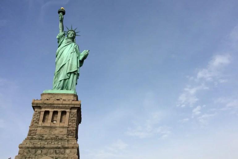 Das Wahrzeichen von New York: die Freiheitsstatue