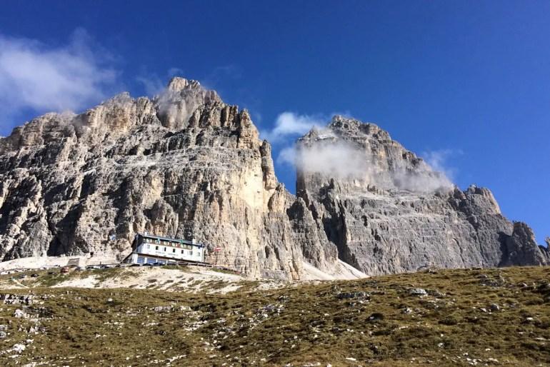 Ausgangs- und Endpunkt der Tour: die Auronzohütte