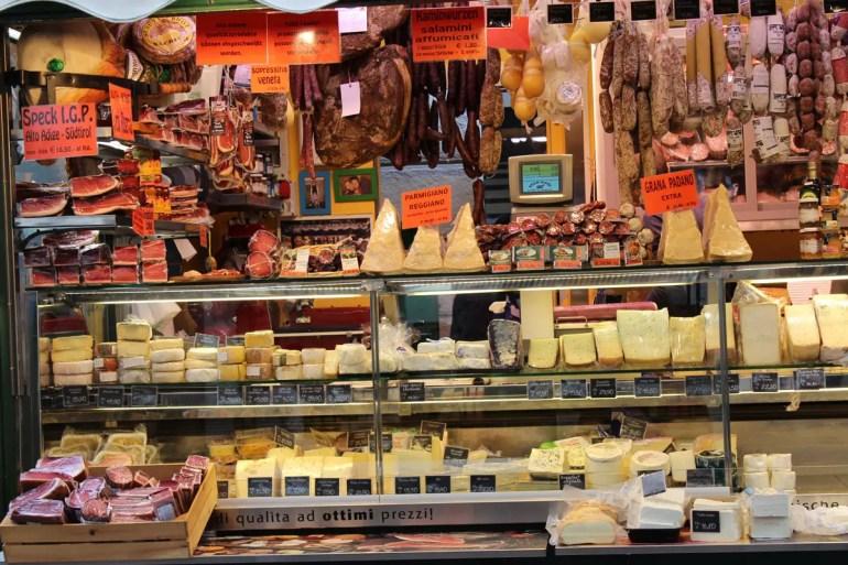 Südtiorler Speck und Käse