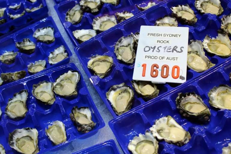 Frisch eingetroffen: Austern aus Sydney