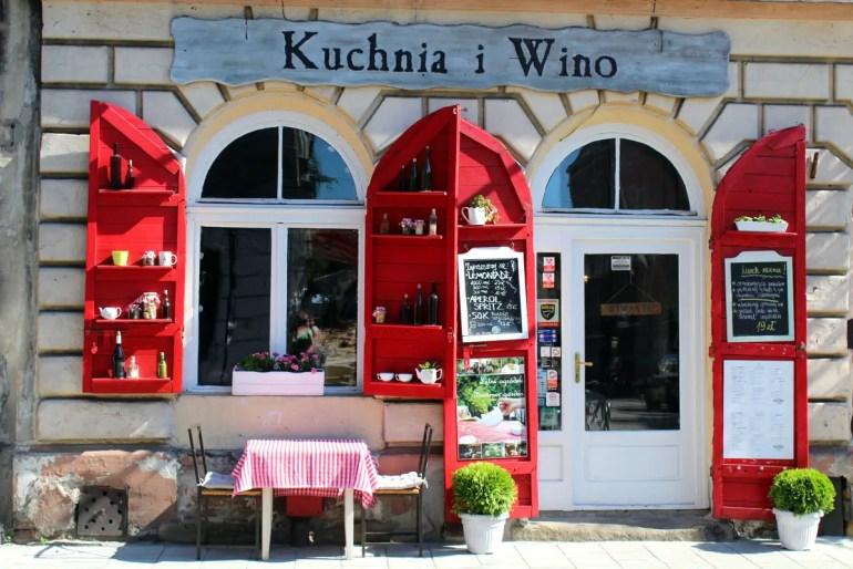 An der Ulica Jozefa findest du viele Restaurants