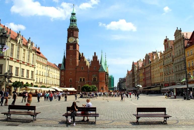 Das Rathaus am Hauptmarkt