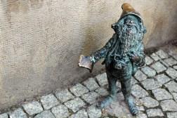 Zwerg in Breslau: der Tourist