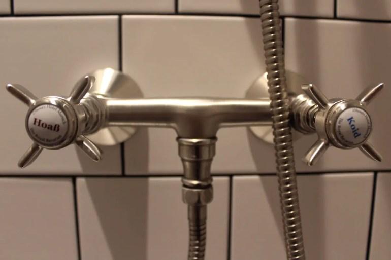 """""""Hoaß"""" oder """"koid"""" - das ist hier in der Dusche die Frage"""