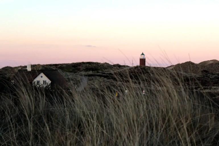 Abendstimmung am Leuchtturm in Kampen