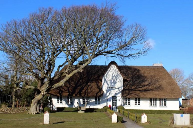 In Morsum säumen viele hübsche Friesenhäuser die Wege