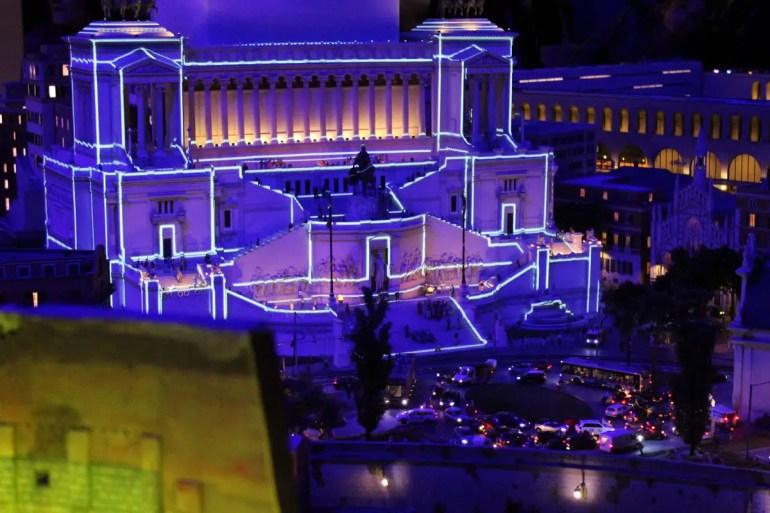 Nächtliche Beleuchtung in Rom