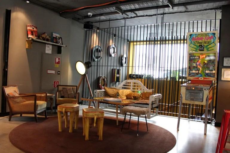 Stylisches Design auch in der Lobby