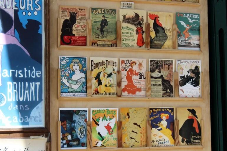 Postkarten erinnern an die alten Zeiten in Montmatre