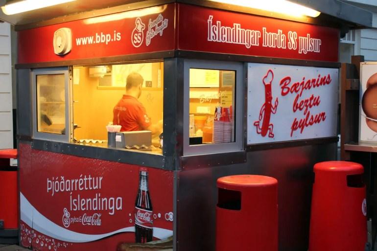 Baejarins Beztu Pylsur gilt als bester Hotdog Islands