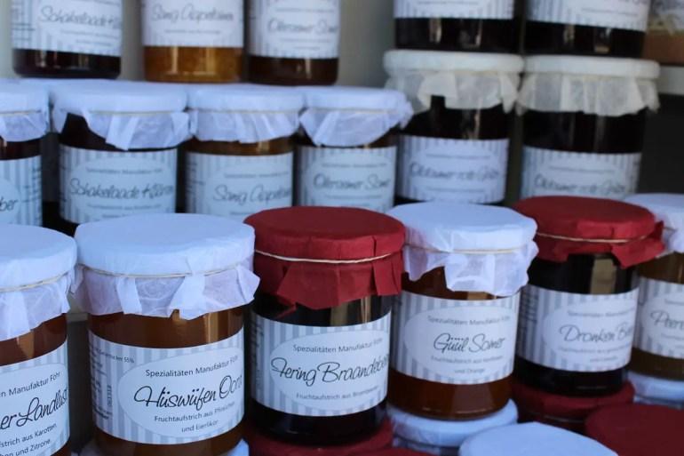 Hübsches Mitbringsel: Marmelade aus Föhr