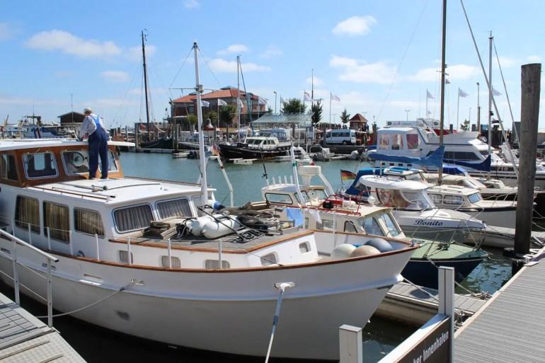 Die Boote am Hafen in Wyk