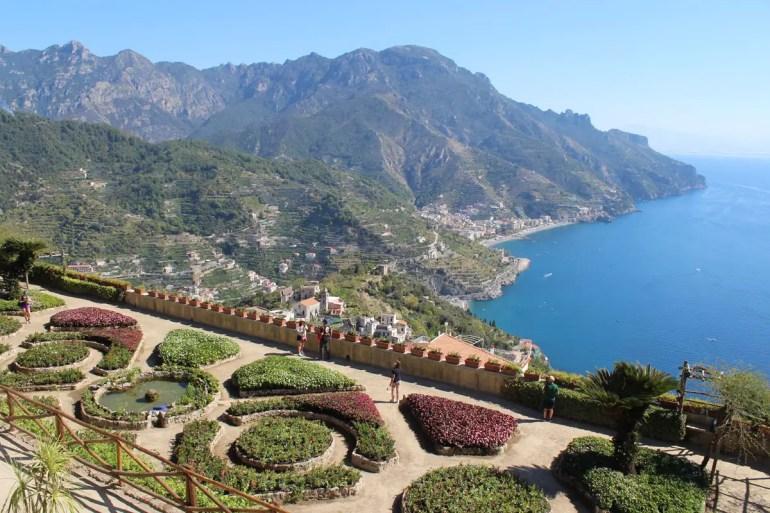 Von den Gärten der Villa Rufolo bieten sich wunderbare Ausblicke aufs Meer