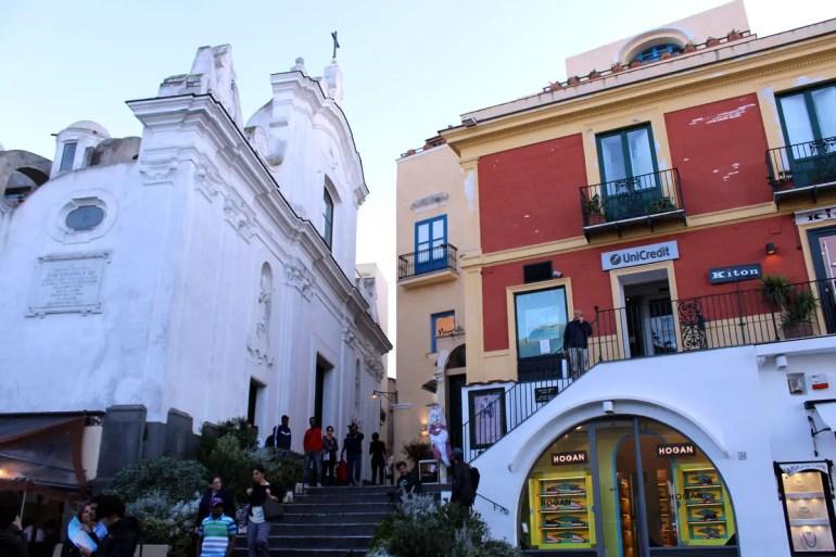 Die Chiesa Santo Stefano an der Piazetta in Capri
