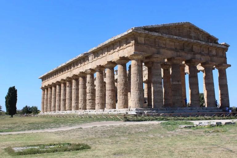 Griechische Tempelruinen in Paestum