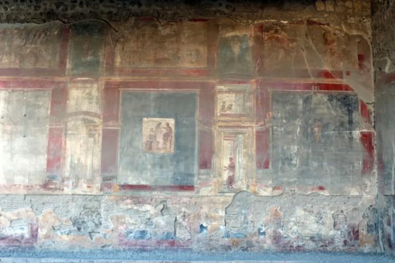 Auch nach über 2.000 Jahren noch sichtbar: Wandmalereien in Pompeji