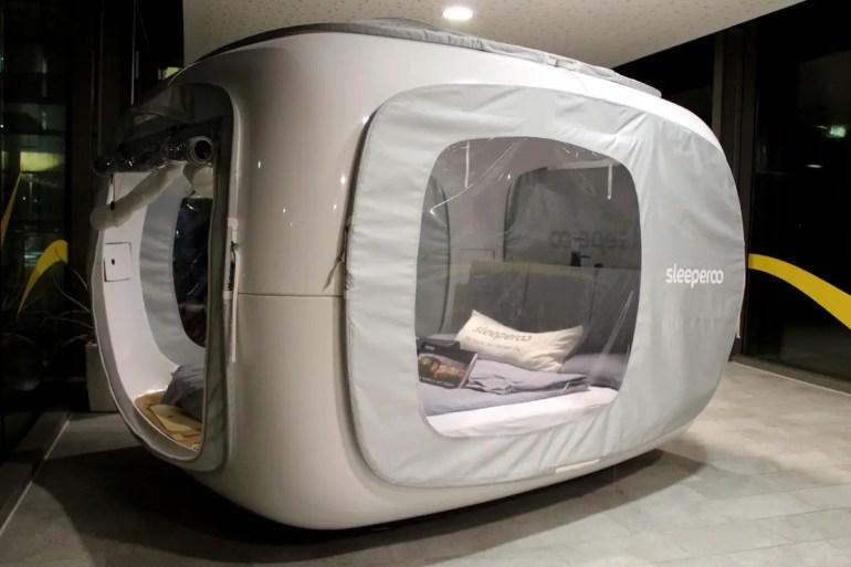 Eine Mischung aus Zelt und Wohnwagen: der Sleeperoo von außen