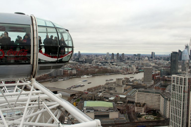 Vom London Eye aus hast du einen spektakulären Ausblick auf London