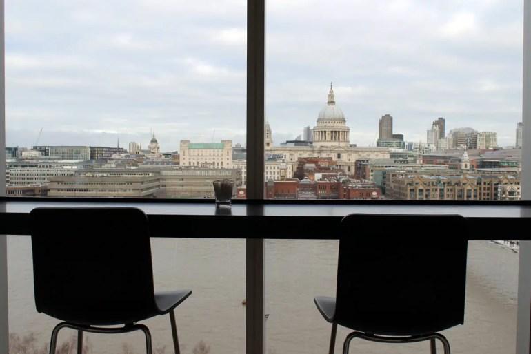 Immer wieder beeindruckend: der Blick vom Tate Modern zur St Paul's Cathedral