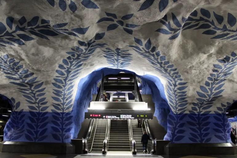 Kunst in der U-Bahn, hier am Hauptbahnhof Stockholm Centralen