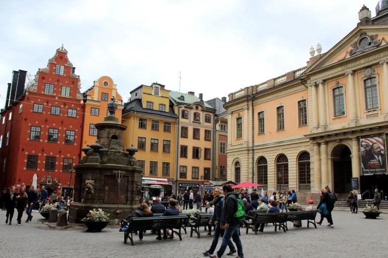 Am Stortorget in Stockholms Altstadt Gamla Stan liegt auch das Nobelmuseum