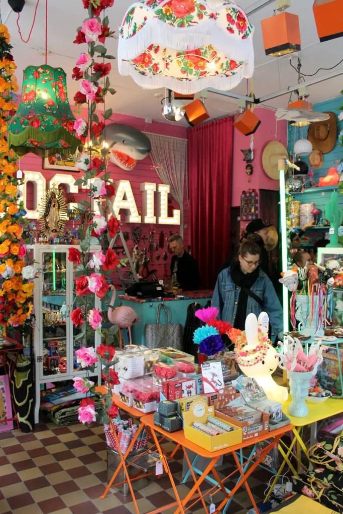 Bunt und cool: ein Laden in Stockholms Trendviertel Södermalm