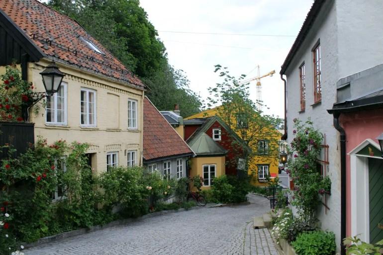 Bilderbuch-Oslo: die Holzhäuser in der Damstredet