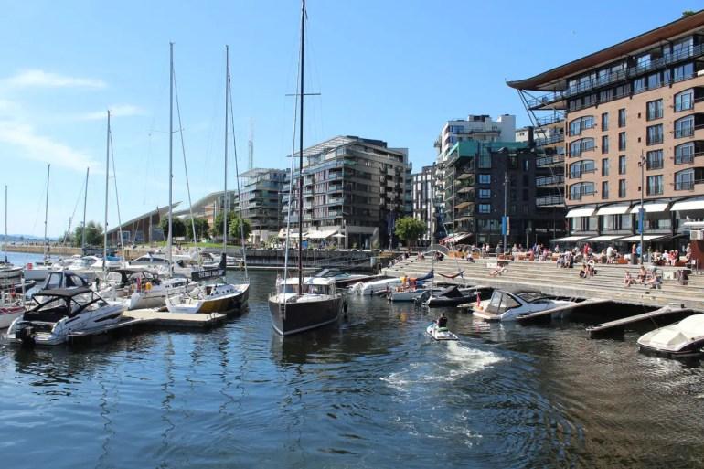 Das neue Viertel Aker Brygge ist Oslos HafenCity
