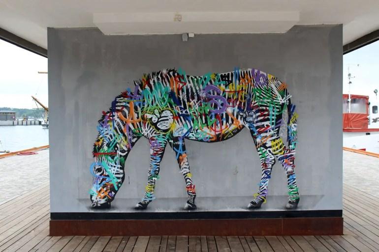 Oslos Streetart: ein buntes Zebra