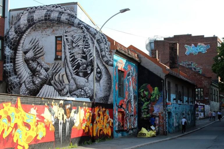 Bunte Streetart in Vulkan