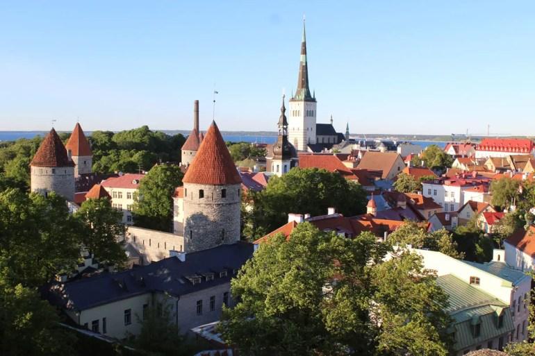 Der Blick von der Oberstadt über Tallinns Altstadt