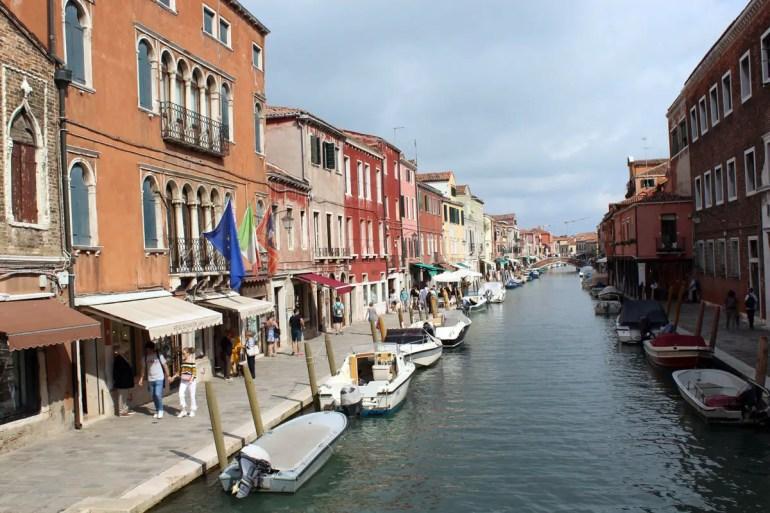 Venedig in klein: die Kanäle von Murano