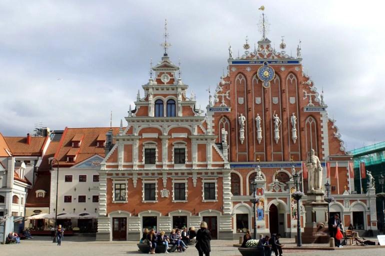 Das Schwarzhäupterhaus erinnert an Rigas Hansezeit