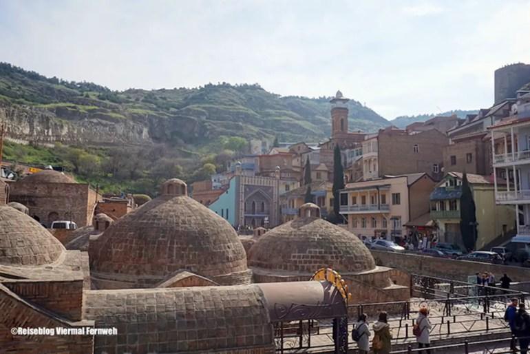 Blick über die Altstadt von Tiflis (Foto: Viermal Fernweh)