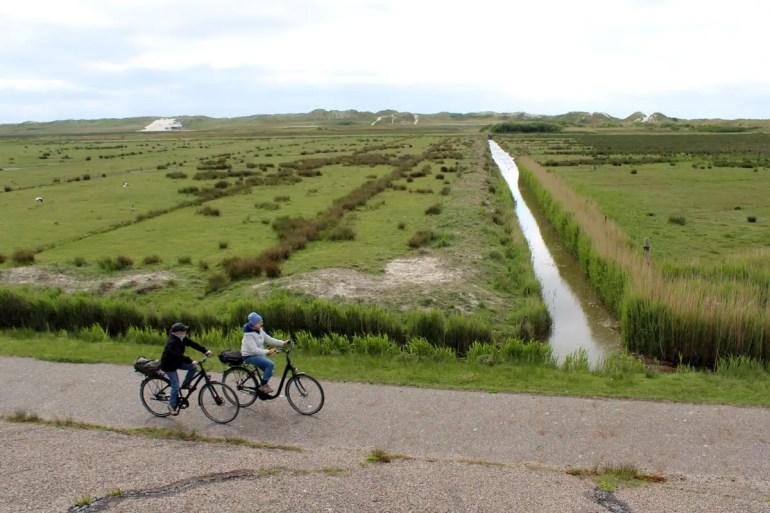 Mit dem Rad entlang der Salzwiesen der Nordspitze