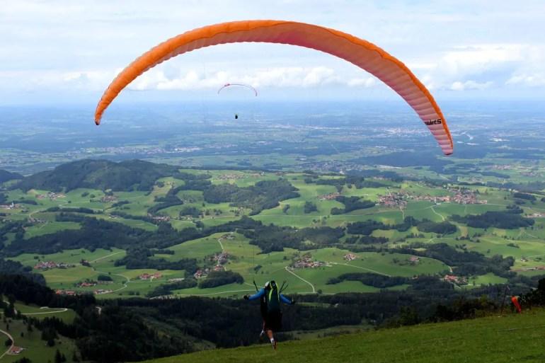 Bei Paraglidern ist die Hochries sehr beliebt