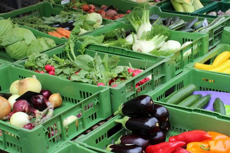 Frisches Gemüse vom Grünen Markt
